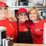 The lady's are waiting to serve you today