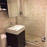 Bathroom--small, but modern & clean