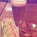 Chihuaha hot dog & Papaya craft beer