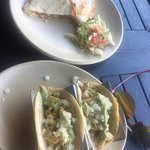 It looks bland b/c my camera sucks but it was DELICIOUS! 2 tacos lunch special and beef quesadil