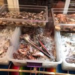 Fresh Lion Fish at the front of the restaurant
