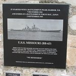 USS Missouri Plaque