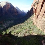 View into Zion Canyon from West Rim Trail