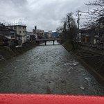 Overlooking the Miyagawa River on a rainy day