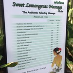 Sweet Lemongrass Massage Foto