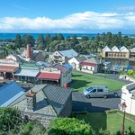 The recreated maritime village as seen from Flagstaff Hill