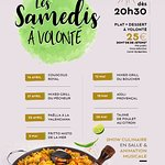 Tous les samedis soirs ! Plat & dessert à volonté + show culinaire + artistes + 5€ de jetons = 2