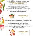 La Carte du Café Croisette, restaurant du Casino Croisette ouvert tous les jours midi et soir !