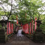 The shinto sanctuary :don't forget to give something and ring the bell and make a prayer.