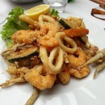Fried mix of seafood and fish