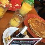 pancake eggs and bacon
