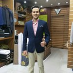 Happy Customer with our made to measure suits. Are you willing to make suits? if yes, Please mai