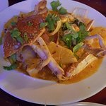 Delicious yellow curry with crab