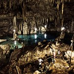 Cho-ha cenote - one of the most beautiful & biggest dry caves one can explore near Tulum