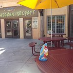 Outdoor seating at about 10:30 AM Weekday