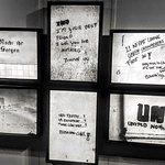 graffiti by Dutch UN troop in Warehouse in Srebrenica