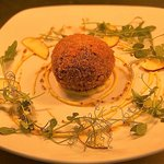 Haggis Scotch egg with spicy calvados mayonnaise