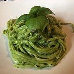the best pesto pasta I've ever had.