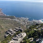 Top of Table Mountain looking down on Camps Bay