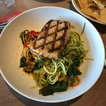 "Grilled Scottish Salmon with the Zucchini ""Pasta"""