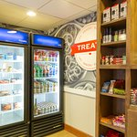 Located in the lobby you can purchase Snacks, Drinks & Amenities.