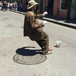 A very talented street performer during the day