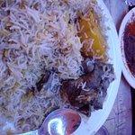Mutton Biriyani with big potatoe
