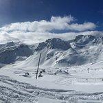 Panorama of ski area