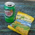Ginger Ale & Plantain Chips snack