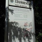 Panneau explicatif du parc
