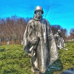 Tinted Ink Photo of the Korean War Veterans Memorial in DC, by Jim Rode FridayNightArt