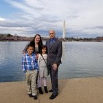 William E. Lewis Jr. of Fort Lauderdale, Florida, visiting the Washington Monument.
