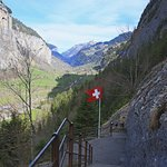 Trummelbach Falls view of valley