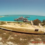 A photo of Yankee Freedom III taken atop the Fort Jefferson.