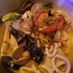 seafood feast. A BUNCH of food!