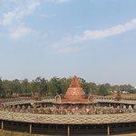 Shri Yantra temple arieal view