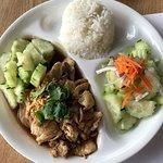 garlic chicken lunch