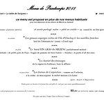 menus du PRINTEMPS 2018  au restaurant la TABLE de SORGUES 0490391102