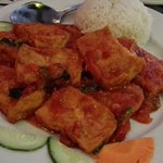 Tofu with tomato sauce