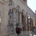 The Peristyle of Diocletian's Palace - Split, Crotia
