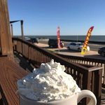 Luxury in the morning. English Toffee Latte with Whipped cream!