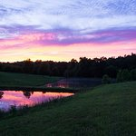 Our stocked pond at sunset