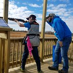 Youth clay shooting