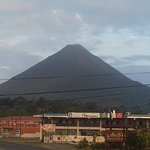 Great hotel room view of Arenal Volcano!