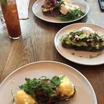 eggs bene, smashed avocado, big breakfast