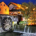 The Old Mill Restaurant at night!