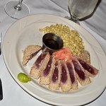 Sesame crusted seared ahi tuna