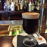 Irish coffee to warm up from the chilly and windy Dublin day!