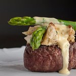 Filet Oscar: Tender and delicious with 2 ounces of jumbo lump crab and hollandaise sauce.