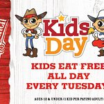 Everyday Tuesday is Kids day!
